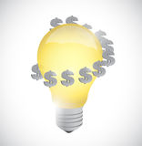 Light bulb monetary idea symbol illustration Royalty Free Stock Photography