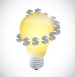 Light bulb monetary idea symbol illustration Royalty Free Stock Photography