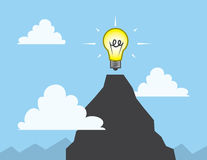 Light Bulb Mountain Top Stock Images