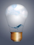Light bulb and nature Stock Image