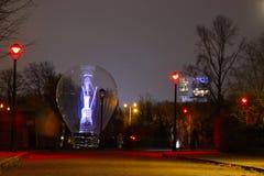 Light-bulb at night Stock Photos