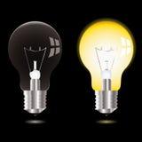 Light bulb on off Stock Image