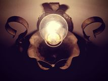 Light bulb. Old electric lamp Royalty Free Stock Images