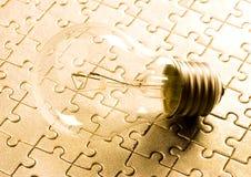 Light Bulb On Jigsaws Royalty Free Stock Photo