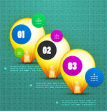 Light bulb option banner template Stock Images