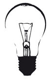 Light bulb outline. Light bulb black  outline Stock Photo
