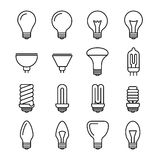 Light bulb outline vector icons Stock Image