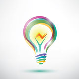 Light bulb outlined symbol Royalty Free Stock Photo