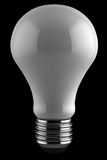 Light bulb over black Stock Photo