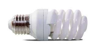 Light bulb over white Stock Image