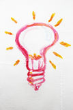 Light bulb painted sketch Stock Image