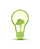 Light bulb with plant. And Environmental Conservation stock illustration