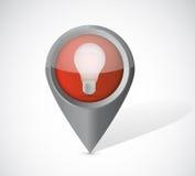 Light bulb pointer illustration design Royalty Free Stock Image
