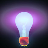 Light bulb and puzzle Stock Image