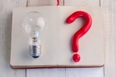 Light bulb with question mark symbol.jpg Stock Photos