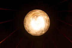 Light bulb and rays Royalty Free Stock Image
