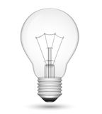 Light Bulb. Realistic  light bulb  on white Royalty Free Stock Photos