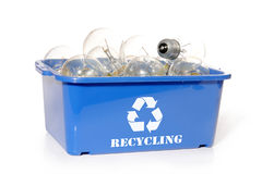 Light bulb recycling Royalty Free Stock Photos