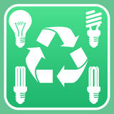 Light bulb recycling Royalty Free Stock Photo