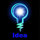 Light Bulb Represents Lightbulb Idea And Creativity Stock Image