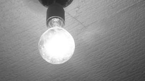 Light bulb of retro style. Light bulb the inclusion of retro style black and white light option stock footage