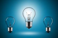 Light bulb row Stock Photos