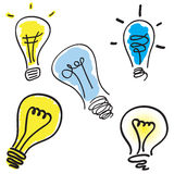 Light bulb set Royalty Free Stock Images