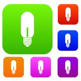 Light bulb set collection. Light bulb set icon in different colors isolated vector illustration. Premium collection Stock Photos