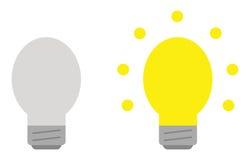 Light bulb set. Grey and yellow. Vector light bulb set. Grey and yellow lightbulbs Stock Image