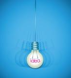 Light bulb shake idea background Stock Photo