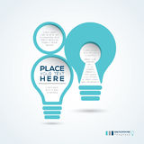 Light Bulb Shape Abstract Design Layout Stock Image