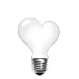 Light bulb in shape of heart Stock Image