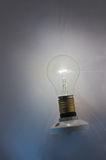 Light bulb shining Royalty Free Stock Images
