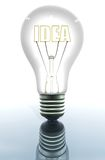 Light bulb showing an idea Royalty Free Stock Image