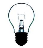 Light bulb silhouette Stock Image