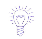 Light bulb sketch Royalty Free Stock Photos