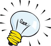 Light Bulb Sketch Cutout Royalty Free Stock Images