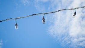 Light bulb on sky. Stock Images