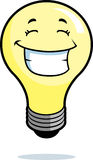 Light Bulb Smiling Stock Photography
