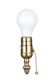 Light bulb in socket royalty free stock photo