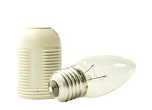 Light bulb and socket Royalty Free Stock Photos
