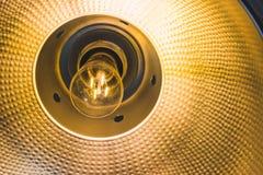 Light bulb in socket Stock Photo