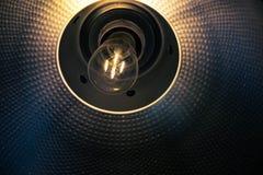 Light bulb in socket Stock Photography