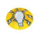 Light Bulb Sparky. Vector image of a light bulb with sparks coming out of it vector illustration