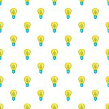 Light bulb with sprout pattern, cartoon style Royalty Free Stock Photos