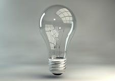Light Bulb In Studio Stock Photo