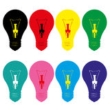 Light bulb style vector Stock Photos