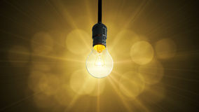 Light bulb swing glow rising, Stock Photography