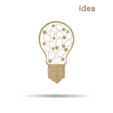 Light bulb symbol Royalty Free Stock Images