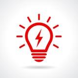 Light bulb icon Stock Image